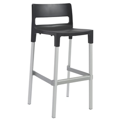 Danbury Modern Outdoor Bar Stool in Anthracite