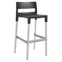 Divo-B Modern Outdoor Bar Stool in Anthracite