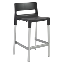 Danbury Modern Outdoor Counter Stool in Anthracite