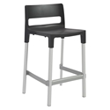 Divo-C Modern Outdoor Counter Stool in Anthracite