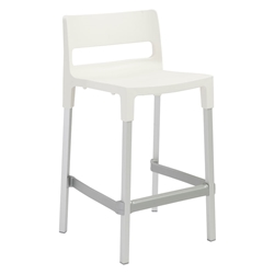 Danbury Modern Outdoor Counter Stool in Linen