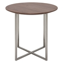 Dixon Walnut + Steel Round Modern End Table