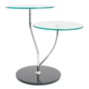 Dixon Modern Side Table w/ Black Glass Base