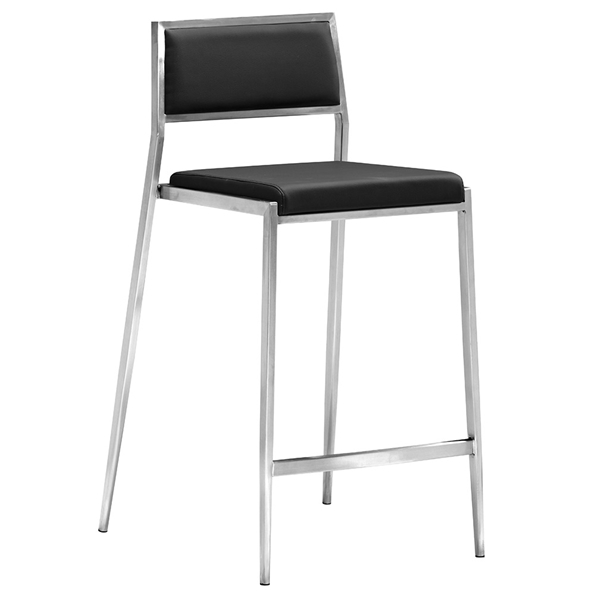 Dolemite Modern Black Counter Stool by Zuo