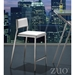 Dolemite Contemporary White Counter Stool by Zuo