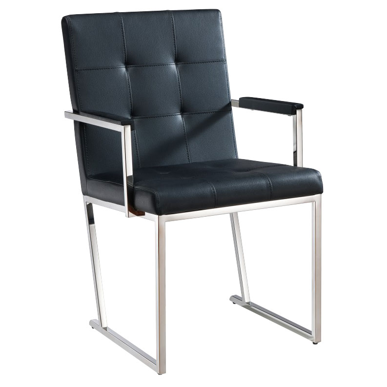 Dolores Black Contemporary Dining Armchair