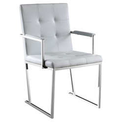 Dolores Gray Contemporary Dining Armchair