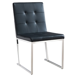 Dolores Black Contemporary Dining Chair