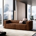 Dominick Modern Leather Sleeper Sofa in Aged Whisky by Modloft Black - Lifestyle