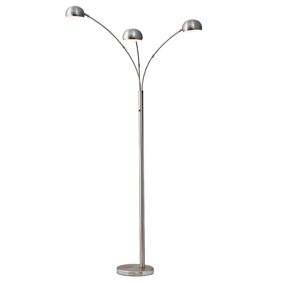 Dudley Arc Lamp Brushed Steel