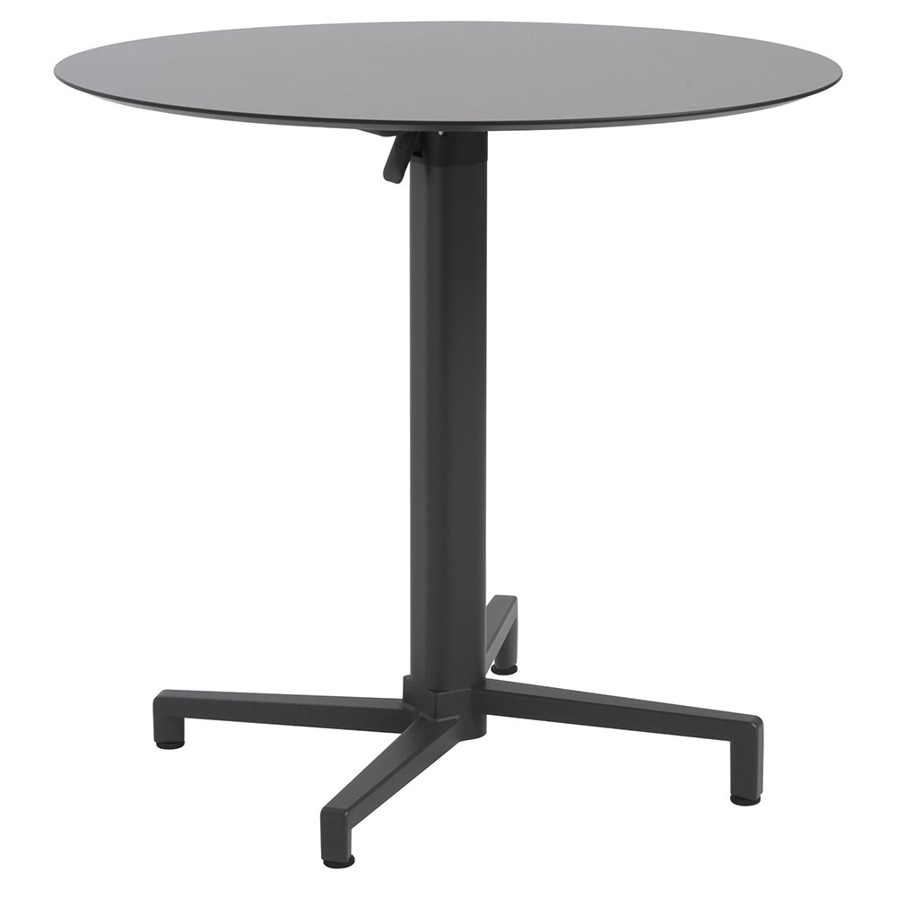 Domino Round Anthracite Folding Table By Euro Style Eurway