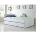 Dooley White Leatherette Contemporary Kid's Trundle Bed