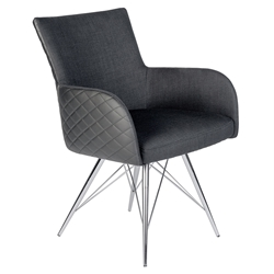 Euro Style Doric Modern Arm Chair in Black