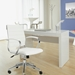 Donald Modern Desk with Axel Chair in White