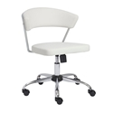 Davis White Modern Office Chair