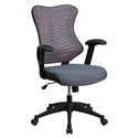 Dragor Gray Mesh + Black Nylon High Back Modern Office Chair