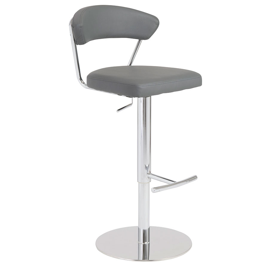 Davis Modern Adjustable Stool in Gray