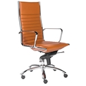 Dirk Modern Cognac High Back Office Chair