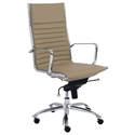 Dirk Modern Taupe High Back Office Chair
