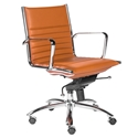 Drake Modern Cognac Low Back Office Chair