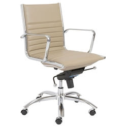 Drake Taupe Modern Low Back Office Chair