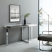 Drastic Chromed Steel + White Lacquer Modern Console Table - Lifestyle