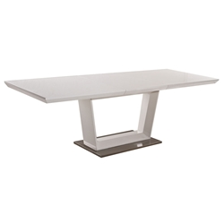 Modern Dining Tables - Drexel Modern White Extension Table
