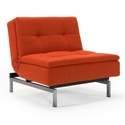 Dublexo Modern Chair in Paprika + Stainless Steel by Innovation