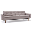 dublexo sleeper sofa with dark wooden legs by Innovation