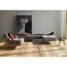 Dublexo Frej Modern Sleeper Sofa in Grey + Oak