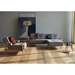 Dublexo Frej Modern Sofa Bed in Grey + Oak