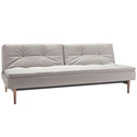 Dublexo Modern Sleeper Sofa - Natural + Dark Wood by Innovation