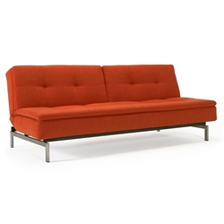 Dublexo Sleeper Sofa in Paprika + Stainless Steel