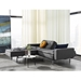 Dublexo Anthracite and Stainless Sleeper Sofa w/ Arms by Innovation
