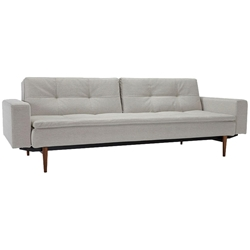 Dublexo Sleeper Sofa with Arms and Dark Legs by Innovation