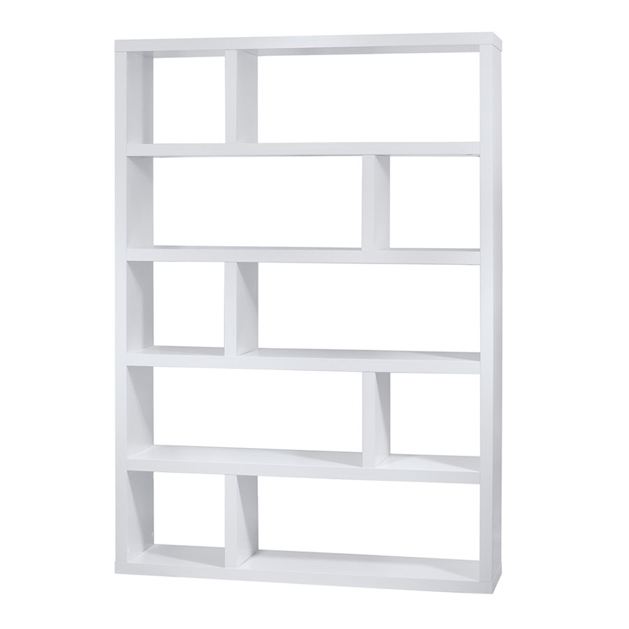 Dublin Tall White Modern Bookcase