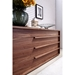 Dulce Walnut Contemporary Dresser Drawers
