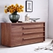 Dulce Walnut Contemporary Dresser