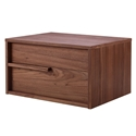 Dulce Walnut Modern Leftside Nightstand + End Table
