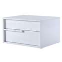 Dulce White Modern Leftside Nightstand + End Table