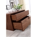 Dulce Walnut Contemporary Rightside Nightstand + End Table