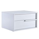 Dulce White Modern Rightside Nightstand + End Table