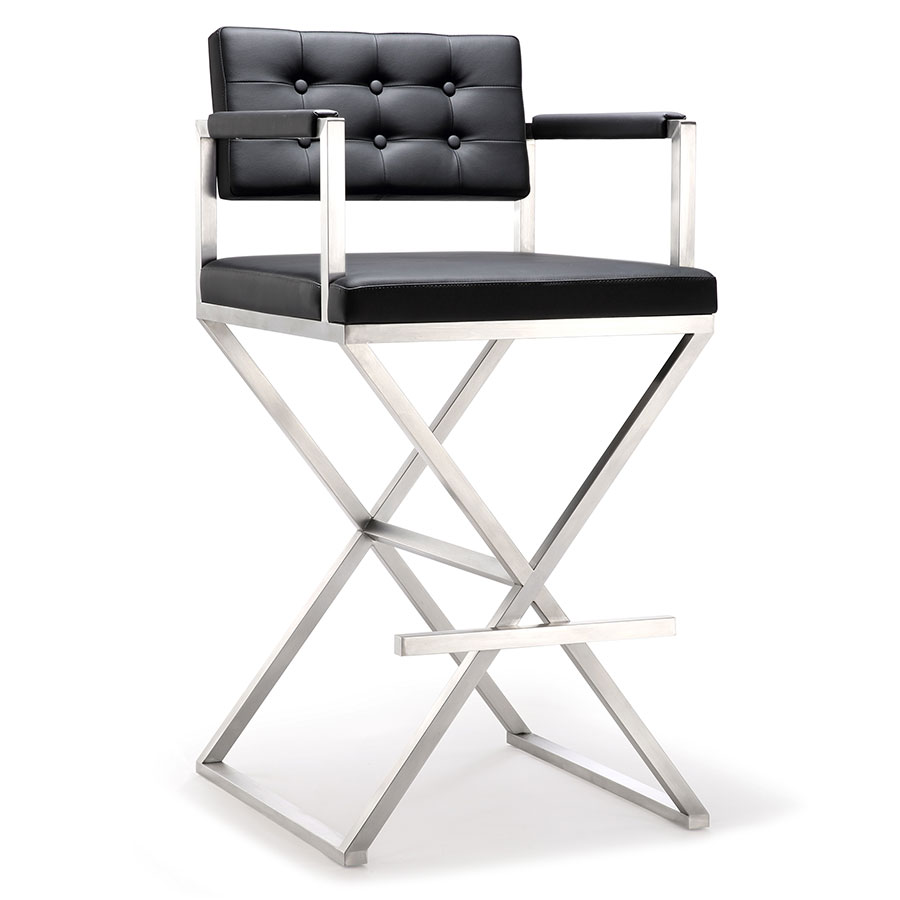 Call To Order Duncan Modern Black Bar Height Stool