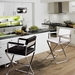 Duncan Modern Counter Stools w/ Stainless Steel