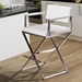 Duncan Modern Counter Stool w/ Stainless Steel