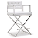 Duncan Modern White Counter Height Stool
