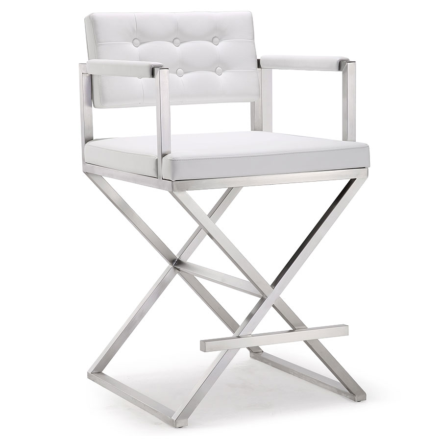 Etonnant Call To Order · Duncan Modern White Counter Height Stool
