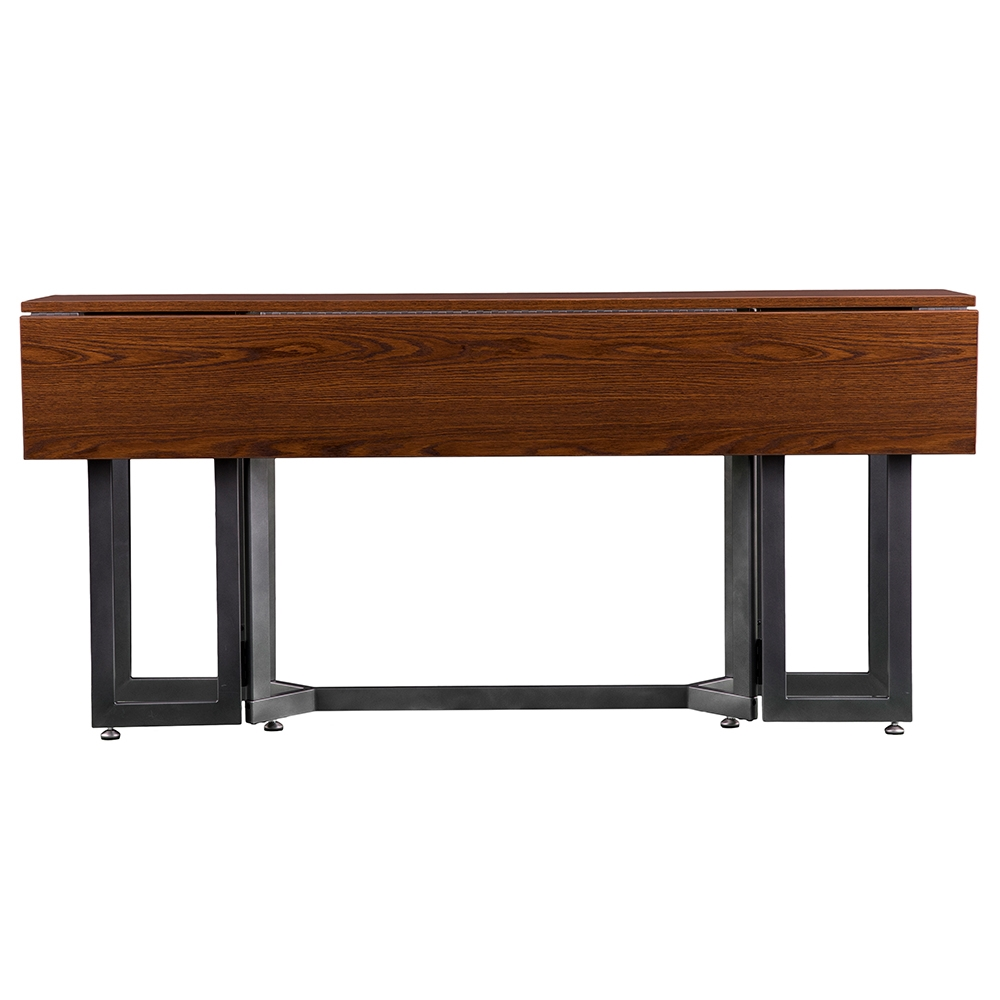 Duncan Modern Drop Leaf Table In Closed Front