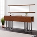 Duncan Contemporary Drop Leaf Console Table in Tobacco