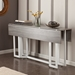 Duncan Weathered Gray Modern Drop Leaf Console Table